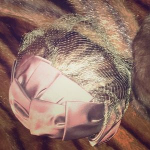 Accessories - Vintage mink and satin birdcage hat